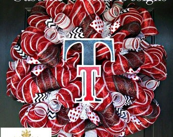 Deco Mesh Texas Tech Fan Wreath
