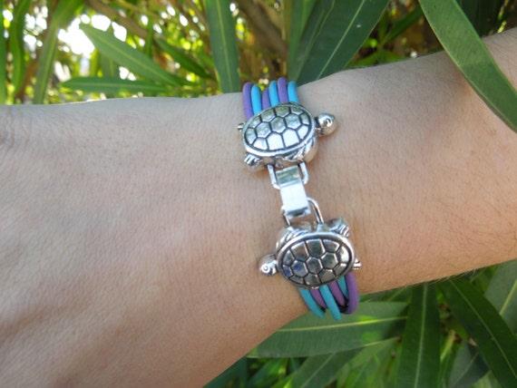 Turtle bracelet, tortoise bracelet, turtle cuff, turquoise bracelet, leather bracelet, leather turquoise, turquoise cuff, tortoise cuff
