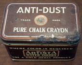 Vintage Artista Watercolor Chalk Crayon Tin (E4194)