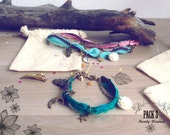 Friendship boho bracelet set. Best friend gifts. Moon Stars bracelets pack of 3, bohemian bracelets, boho chic jewelry, Mother Daughters