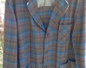 Vintage Plaid Pendleton Men's Wool Blazer
