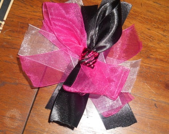 Pink,White,Black with pink zebra accent