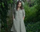ready to ship XS / Linen Work Dress / natural linen