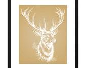 RETIRING Printable Art - Deer Head 8x10