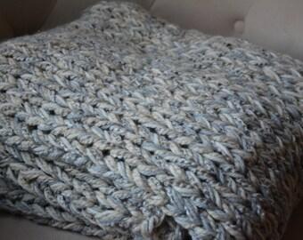 Knit Afghan / Throw Blanket / Warm Sweater Throw