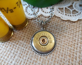 Shotgun Shell Jewelry ~ 20 Gauge Winchester ~ Shotgun Shell Casing Mens Necklace