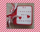 Valentine Album Instagram Scrapbook Photo Album Premade Mini pages