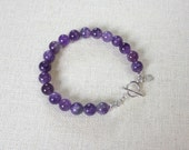 Amethyst Wisdom Bracelet - 6th or 7th Chakra Energy