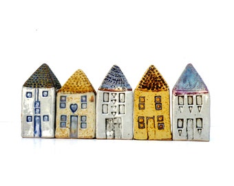 Miniature Houses ,Architecture, Ceramic Sculpture  Buildings, Row Houses,Townhouses,Townscape