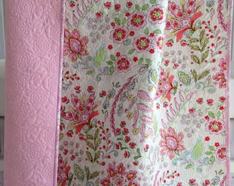 Baby Girl Quilt with Colorful Modern Flowers from Pretty Little Things Collection Emma