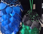 Authentic Modern Scale Maille (Scalemaille) Pouch/ Dice Bag includes small protective pouch. Many colors available.