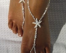 Toddler Adult Bridal Accessories Starfish Soleless Jewelry Silver Bottomless Anklet