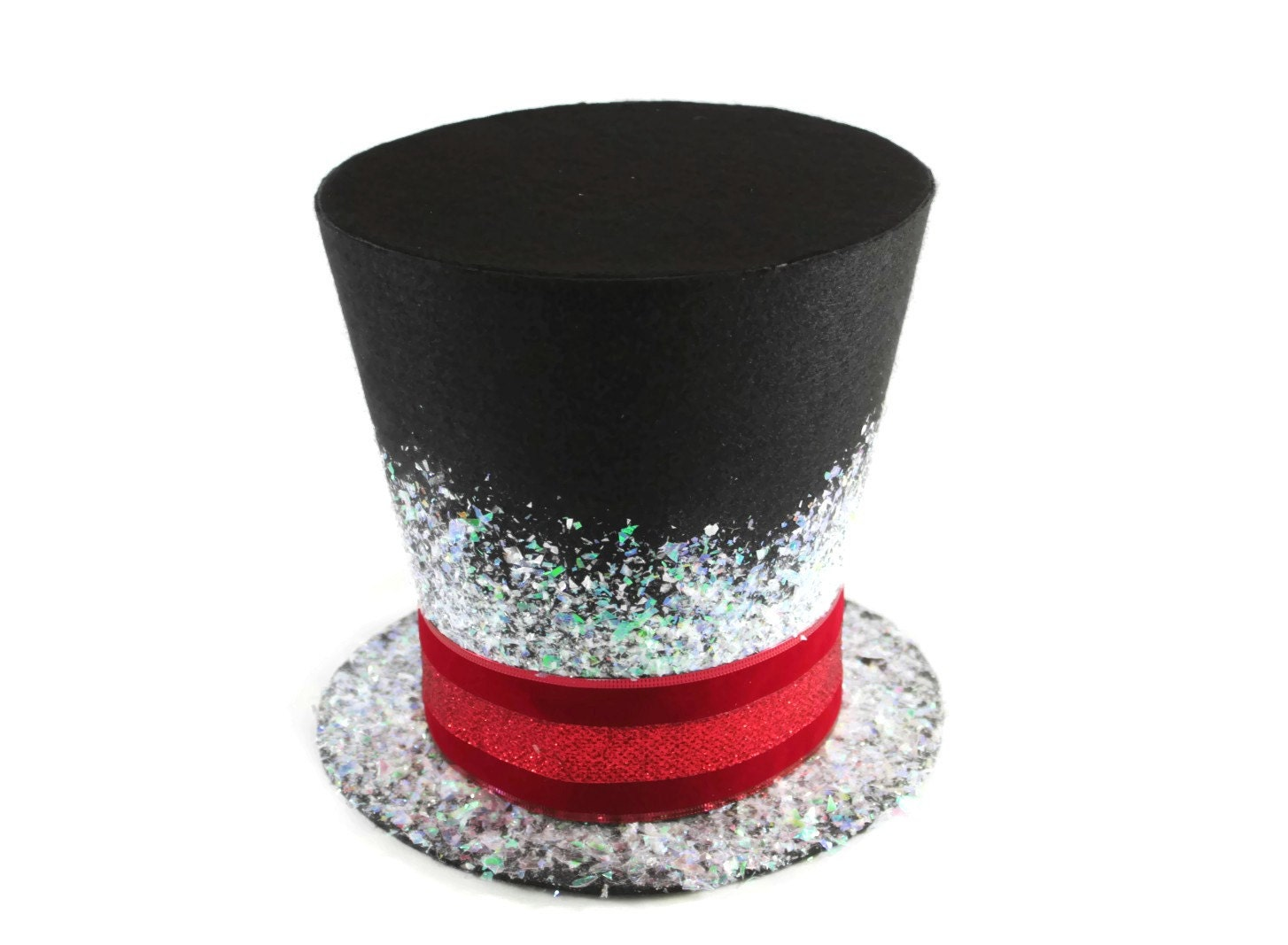 Candy Cane Top Hat Christmas Tree Topper Christmas Table - Christmas Tree Top Hat