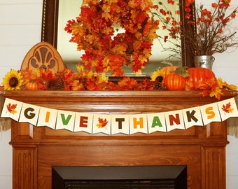 Fall Festival Give Thanks Banner - Instant Download