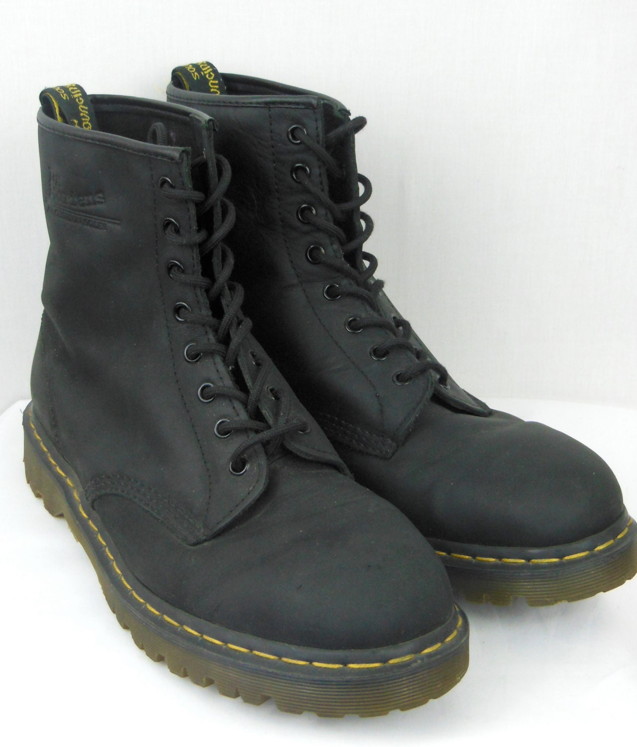doc martens 1460 boots black leather mens by