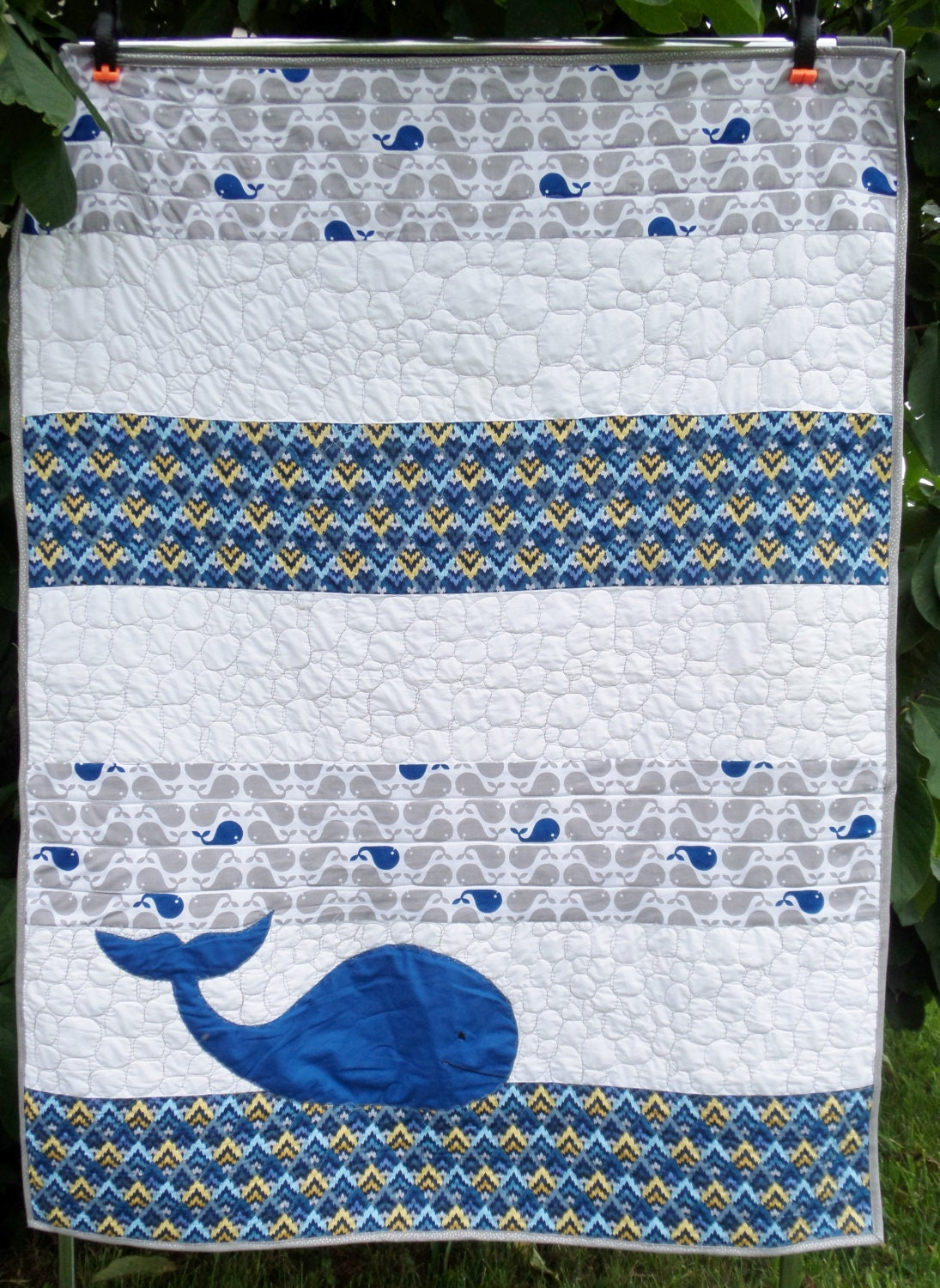 Ocean Whale Nautical Bedding Blue And Grey Toddler Or Baby