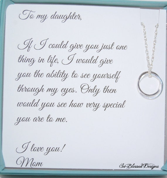 ... Daughter from Mom, Daughters POEM, Birthday gift for daughter, wedding