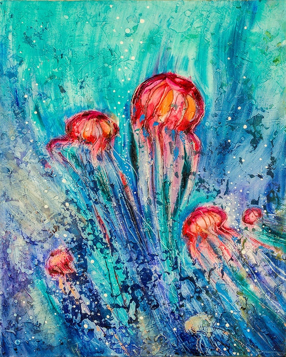 Animal Painting 20 Jellyfish Original & Hand Made Oil