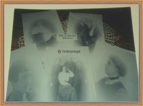 Stationery  Folks Of Yesteryear 14 peice set stationery/envelopes