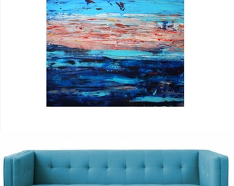 Painting . Large contemporary art modern original canvas  abstract  decor. By Alex Senchenko .Free Shipping