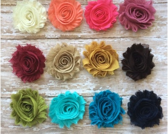You Pick Shabby Chic Flower Hair Clips, Your Choice Hair Bows, Alligator Clips, Flower Barrettes, Girls Hair Accessories, Flower Girl Clip