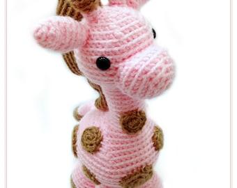 Crochet Giraffe Amigurumi - Stuffed Toy Animal - Giraffe Plushie- MADE TO ORDER