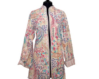 PAISLEY LONG JACKET  – All sizes –  Beige