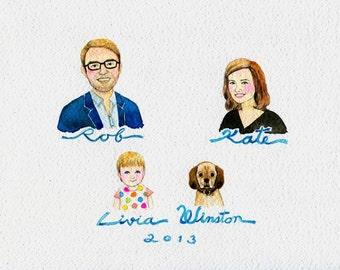 Custom Portrait, Custom Couple Portrait, illustration , Drawing, Wedding gift, Wall art.Save The Date
