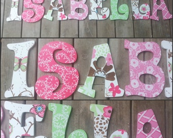 Cocalo Taffy Inspired - Hand Painted Letters - Wooden Letters - Custom Wood Letters - Custom Name Letters - Cocalo Taffy Letters - Letters