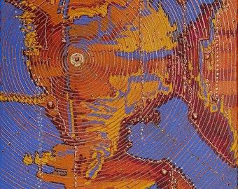 Geo Graph Original Acrylic Painting