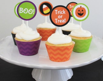 INSTANT DOWNLOAD - Halloween Cupcake Topper