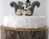 Items similar to Squirrel Wedding Cake Topper Bride and ...