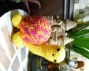 Crochet Toy - Mama Tortoise. Absolutely adorable plush toy. Crochet Turtle