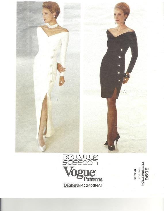 Robe de soir e vogue patron de couture robe vintage - Patron de robe de soiree ...