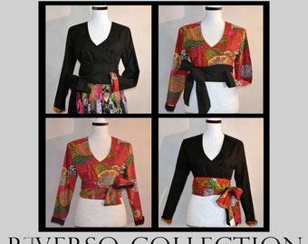 Boho stylish wrap shirt, autumn & winter collection, reversible