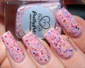 Pink Rainbows by Prettypots Polish - Pastel Love Collection - 12ml Handmixed Glitter Aussie Indie Nail Polish