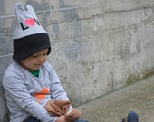 3 Reserved  Valentine Hat / Love Hat,  Kids Hat - Baby Hat / Animal Ear Hat, Heart Hat