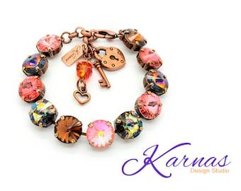 VOLCANIC ERUPTION 12mm Crystal Rivoli Bracelet Made With Swarovski Elements *Pick Your Metal *Karnas Design Studio™ *Free Shipping