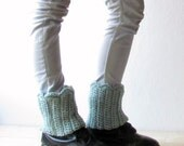 Boot cuff / woman boot sock cuff / light mint blue leg warmers / Rustic clothing / CHOOSE YOUR COLOR