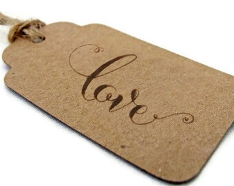 Love Stamp • Calligraphy Stamp • Rubber Wooden Handle • Rubber Stamp • Wedding Stamp • Weddings Invitations