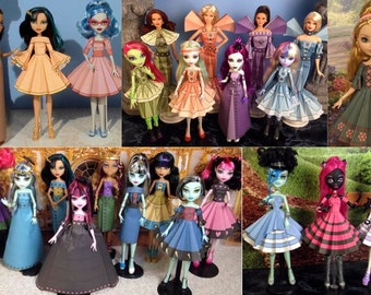 volume 2 printable doll clothes printable paper dresses that fit monster high ever after