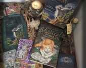 Special Combo Pack Mystical Cats Tarot Deck, Book and Satin Tarot Bag