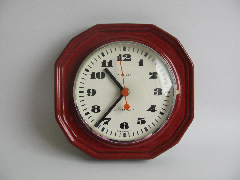 ceramic wall clock by kienzle 60s 70 39 s by oldishbutgoldish