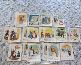 PA Dutch Greeting Cards 19 unused! Vintage 1950's!