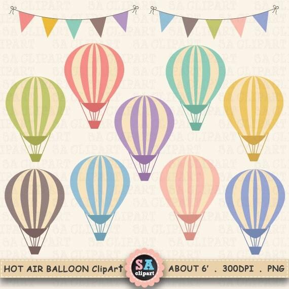 Hot Air Balloon Clip Art HOT AIR BALLOONS Clip Art