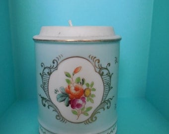 Tea Cup Candle, Victorian Cup Vase with Unscented Candle
