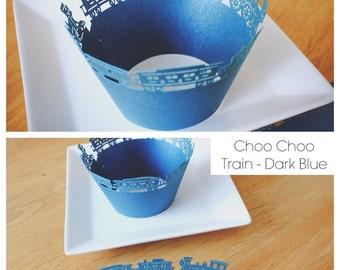 Cupcake Wrappers (CW-07 Choo Choo Train)