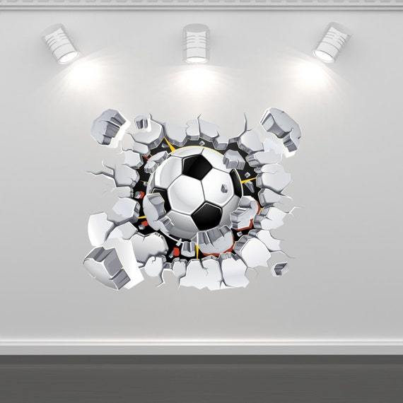 Items similar to football soccer wall art sticker mural decal graphic boys bedroom transfer wall - Soccer murals for bedrooms ...