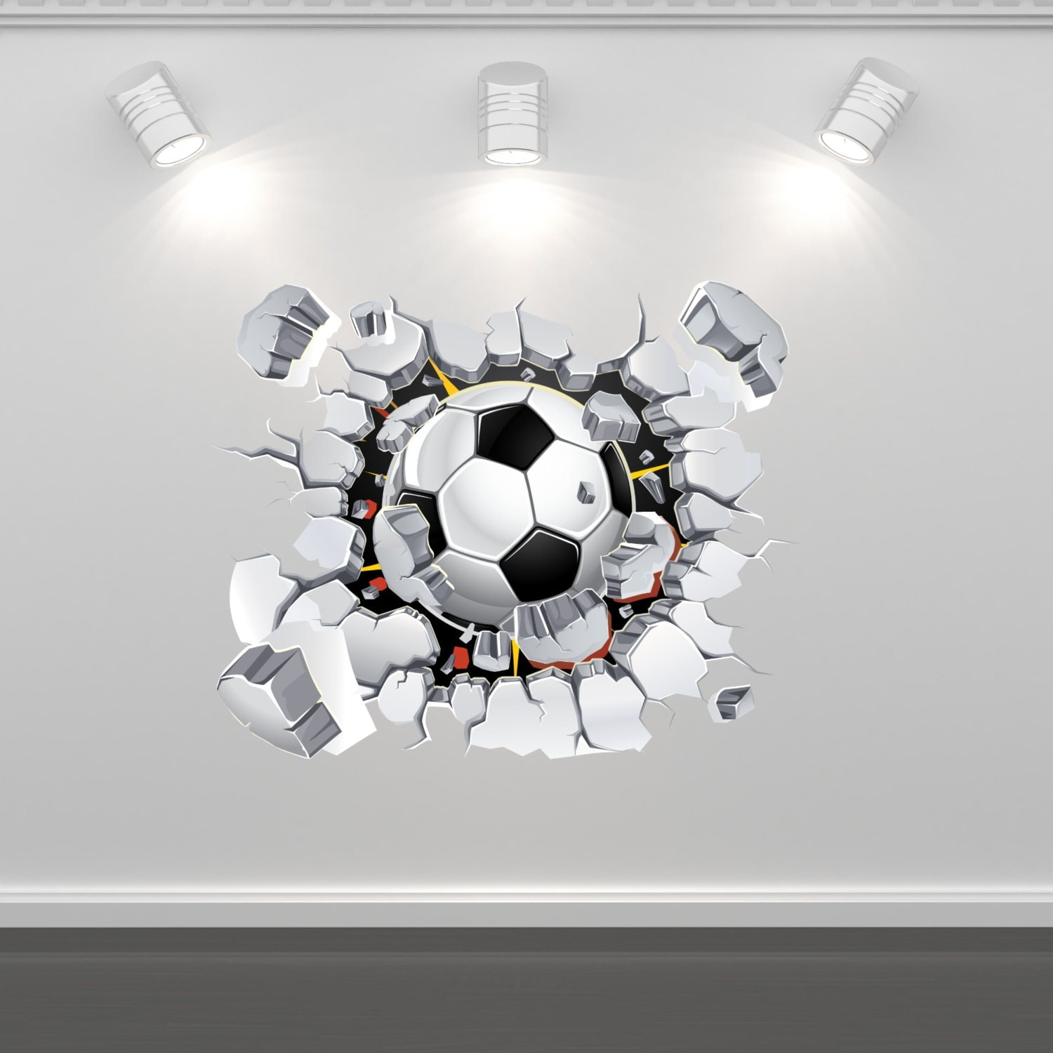 football soccer wall art sticker mural decal graphic boys click to enlarge image