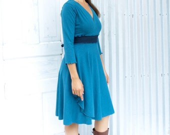 Lydia ~ Wrap Dress ~ Hemp & Organic Cotton ~ Made to Order